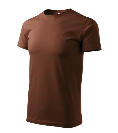 Tričko pánské Basic čokoládová 4XL